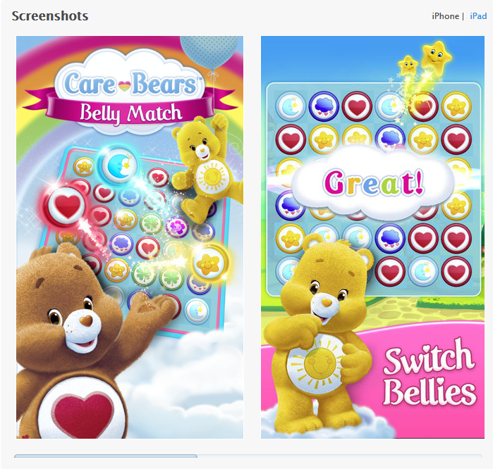 Care Bears Belly Match - iOS