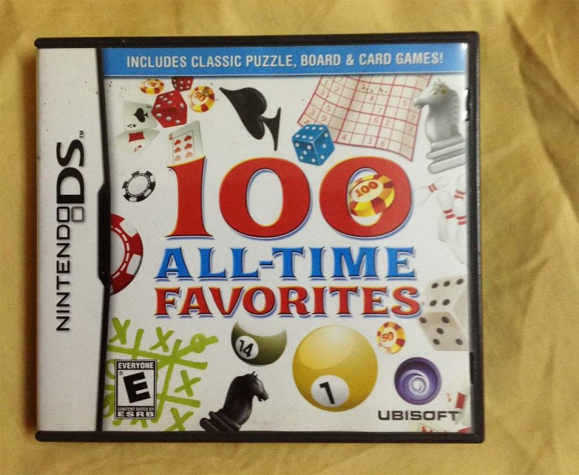 My copy of 100 All-Time Favorites (Nintendo DS)